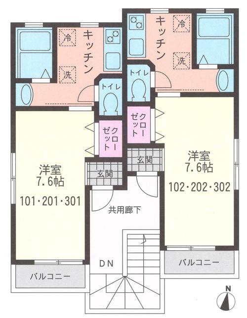 ■物件番号3943 新築物件!茅ヶ崎駅徒歩4分!駅近!南向き!6.3万円~!充実設備!!