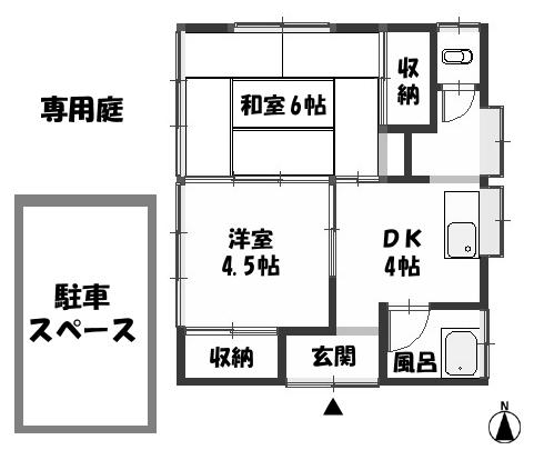 ■物件番号3954 海に1番近い平屋入荷!海3分!昭和レトロ!木造平屋!1人暮らし可!P無料6.5万円!