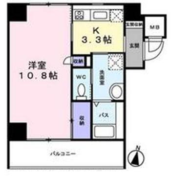 ■物件番号3956 茅ヶ崎駅徒歩10分!広い35平米の1Kマンション!7階カド海が遠望可!10.8帖!7.1万円!