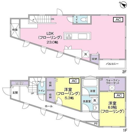 ■物件番号5091 オシャレな分譲一戸建て賃貸!89平米!2LDK+WIC!P1台無料で12.5万円!