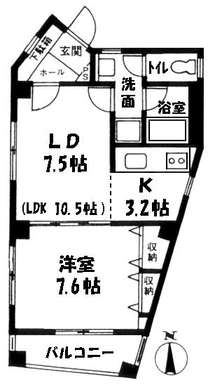 ■物件番号4006 茅ヶ崎駅徒歩2分!1LDK!4階隣室無し!SOHO相談可!7.3万円!