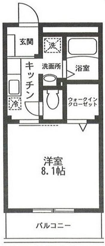 ■物件番号4868 茅ヶ崎駅から徒歩16分!ウォークインクローゼット付の1Kマンション!格安5.3万円!