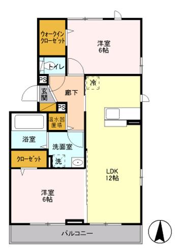 ■物件番号4255 鉄砲通り沿い!築浅2LDK!最上階3階カド!日当り最高!スーパー至近!10万円!