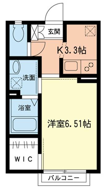 ■物件番号4055 辻堂駅徒歩2分!ウォークインクローゼット付の築浅1K!2階!6.8万円!