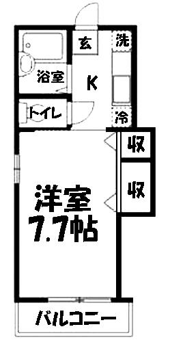 ■物件番号4062 海まで徒歩6分!バストイレ別!屋外シャワー!2階カド!大型バイク可!P無料5.7万円!