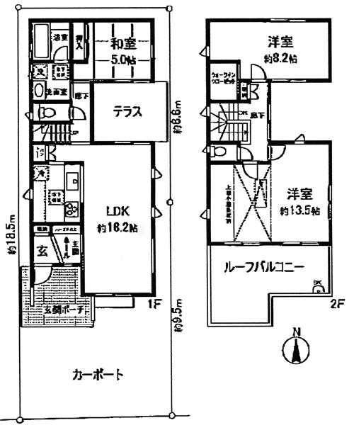 ■物件番号4067 海3分のオシャレな分譲一戸建て賃貸!103平米!3LDK!P2台付15万円!