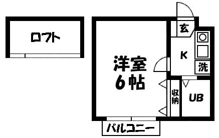■物件番号4072 海側!格安3.7万円!1K+ロフト!リフォーム済!2階!室内洗濯機設置可!