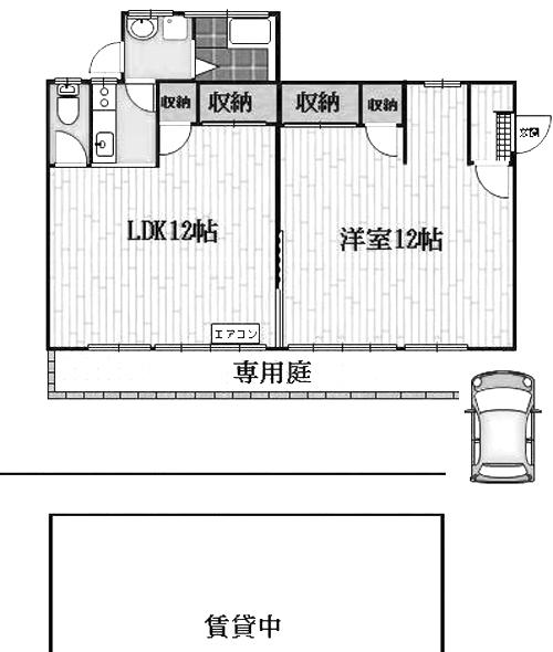 ■物件番号4032 激レア!フルリフォーム済の昭和レトロ平屋!真っ白の外観!P付7.3万円!