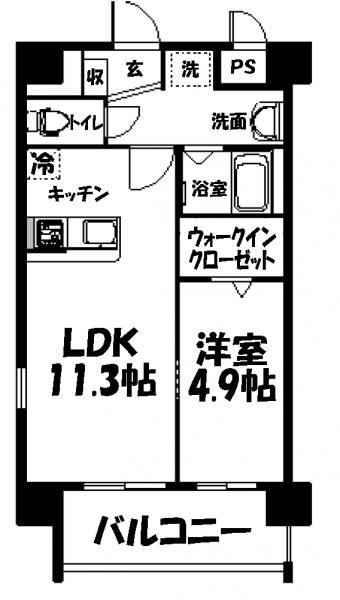 ■物件番号4061 辻堂駅12分!オートロック完備!1LDK+WICマンション!テラスモールも歩ける!9.5万円!