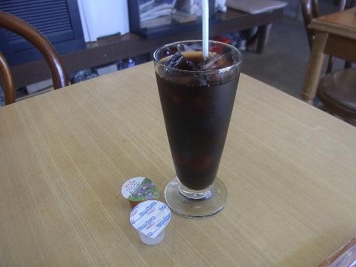 食後のアイスコーヒー