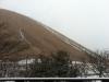大室山にも雪。