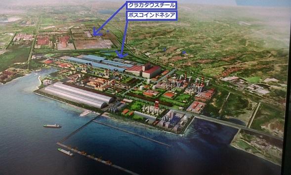 2014-12-20クラカタウポスコ完成予想図(高炉2基)chiisai