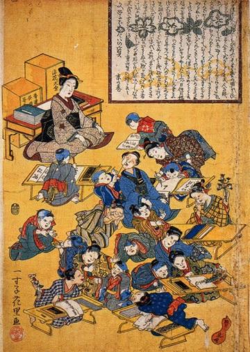 2014-12-31寺子屋の筆子と女性教師 一寸子花里「文学ばんだいの宝」