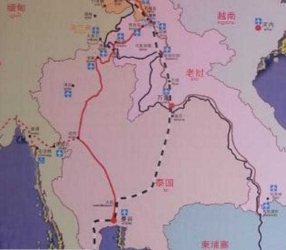 2015-4-11中国の計画するインドシナ半島鉄道ラオス部分大き目