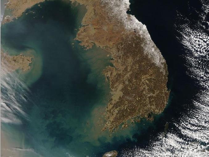 2015-6-18朝鮮半島衛星写真(2005年3月14日)