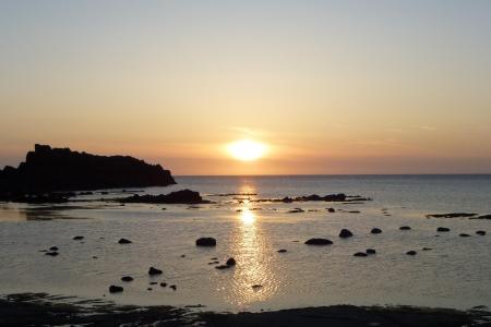 東日本09 青森県 深浦の夕日