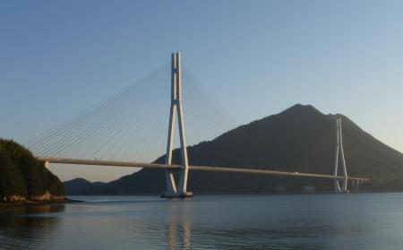 西日本10 愛媛県 朝焼けの多々羅大橋