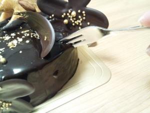 チョコケーキ直喰い① (300x225)