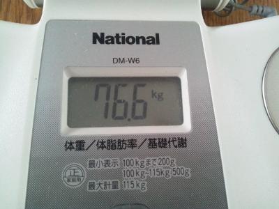 1月6日にひさしぶり76キロ台 (400x300)