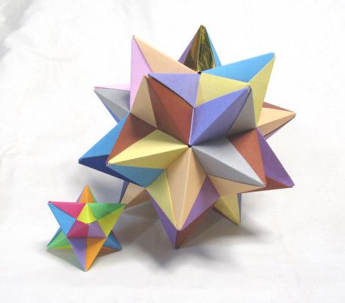 ユニット折り紙(多面体)