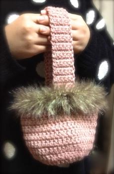 ファーのミニバッグ(ピンク)