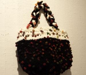 ホッブル編みのバッグ1