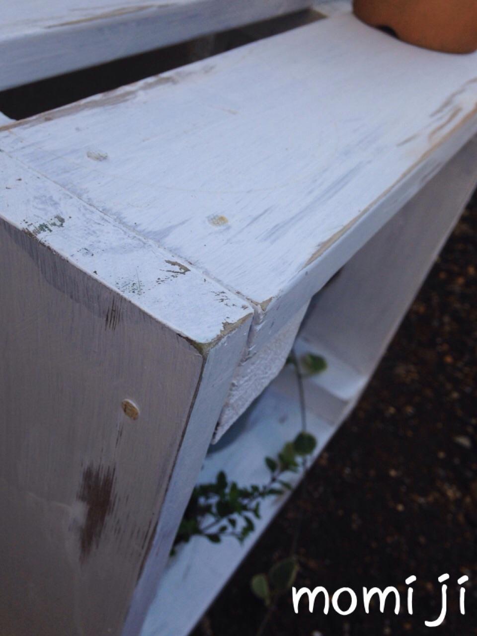 木箱をペイント&アンティーク加工