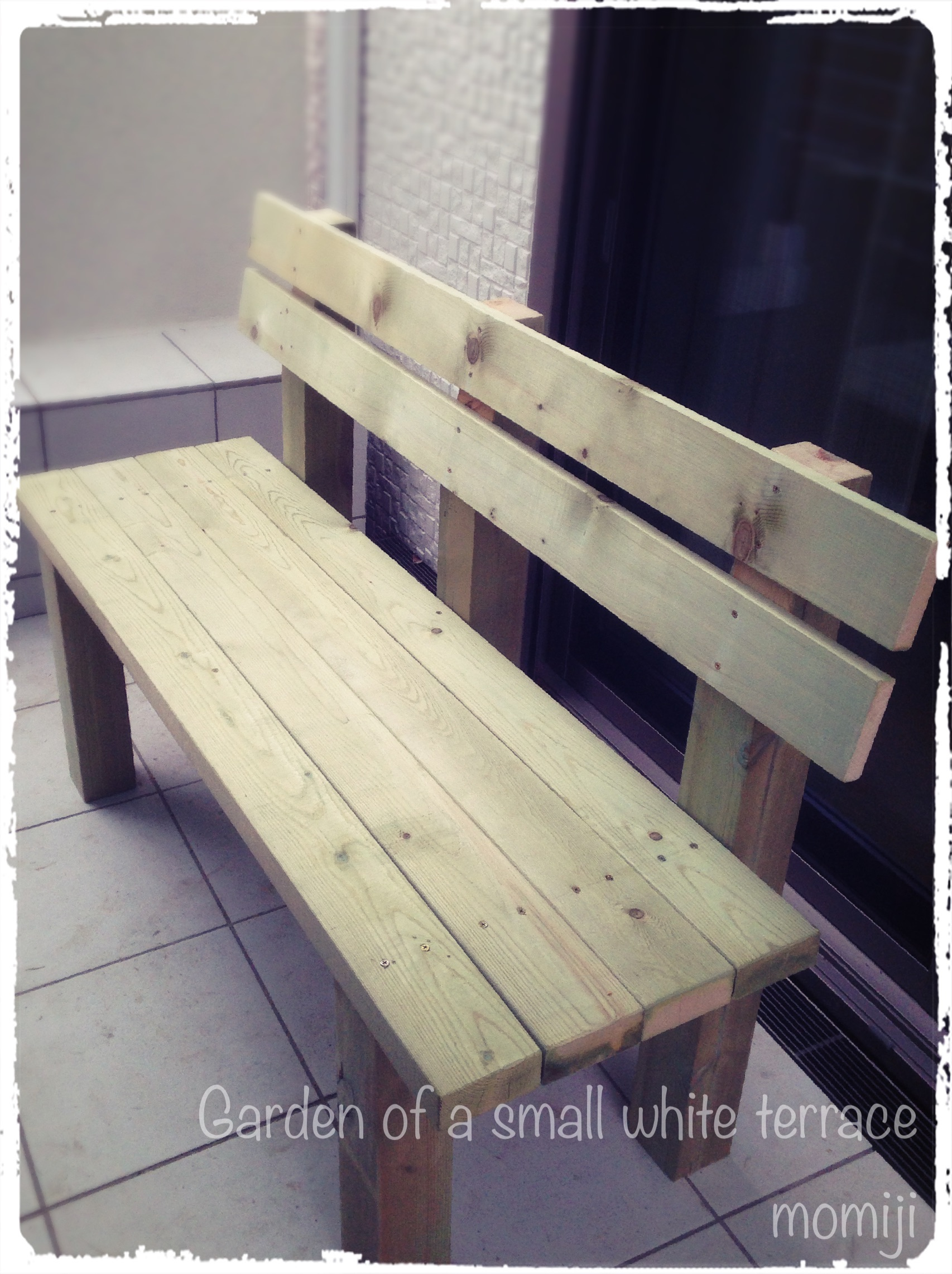 ガーデンベンチDIY