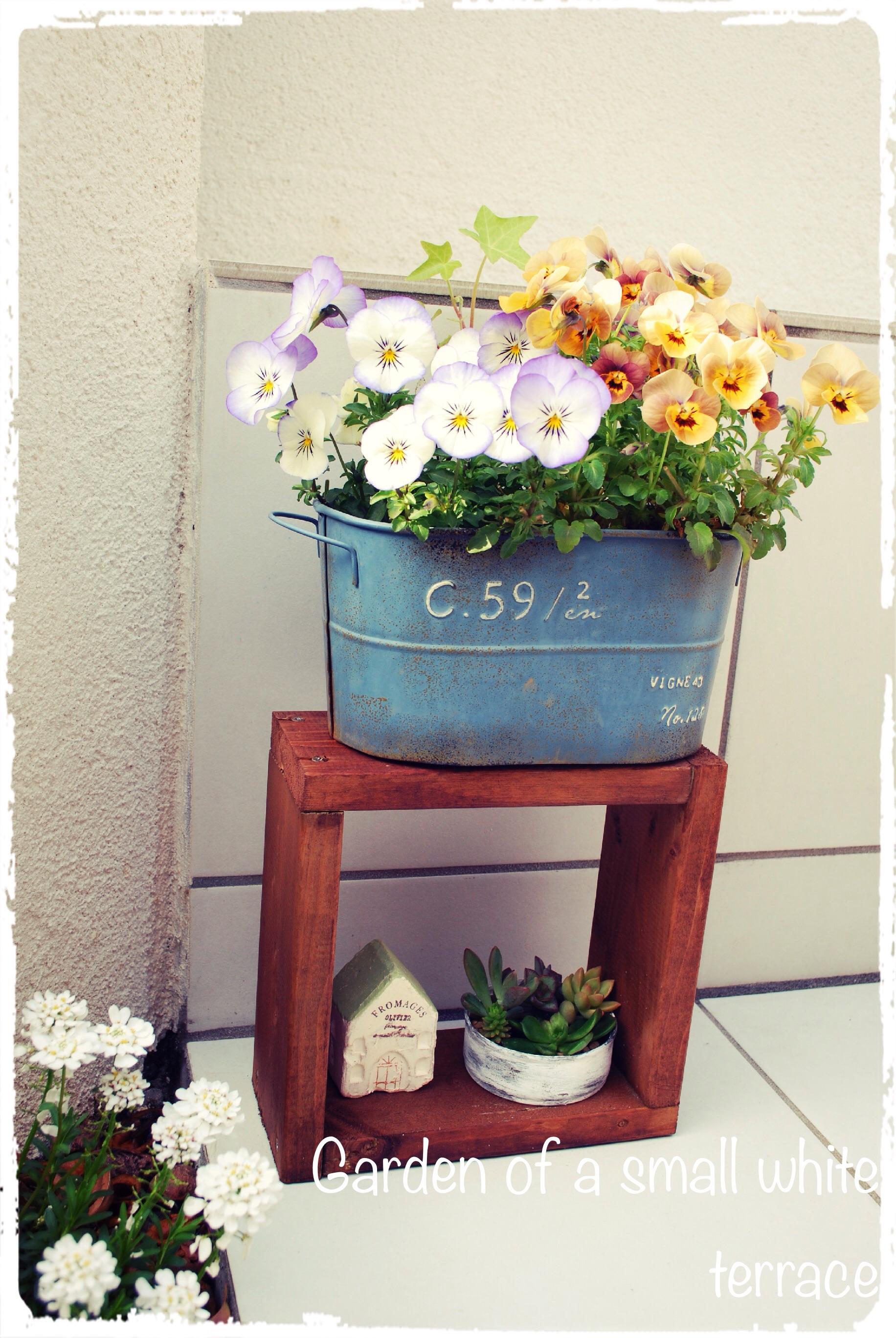 ミニミニ花台をDIY