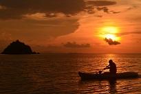 Masao at labuanbajo,till sunset