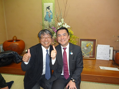 鈴木知事と2ショット