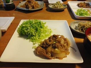 豚の生姜焼き もやしときゅうりのナムル たまごスープ