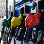 ガソリンの給油ハンドル