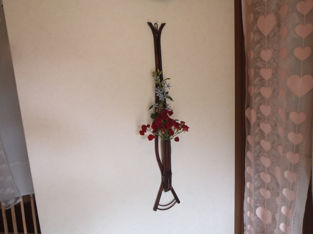 玄関の花20150618