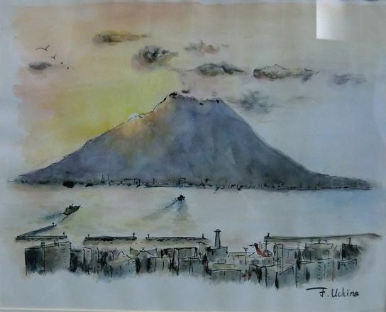 桜島の落日 内野文明4990