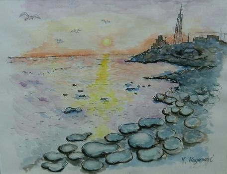夕日の海 小柳泰之4983