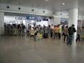 Baggage check at Pudong metro station