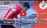 U21の試合 ブルガリアオープン2015