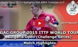 コラレクの試合 ブルガリアオープン2015