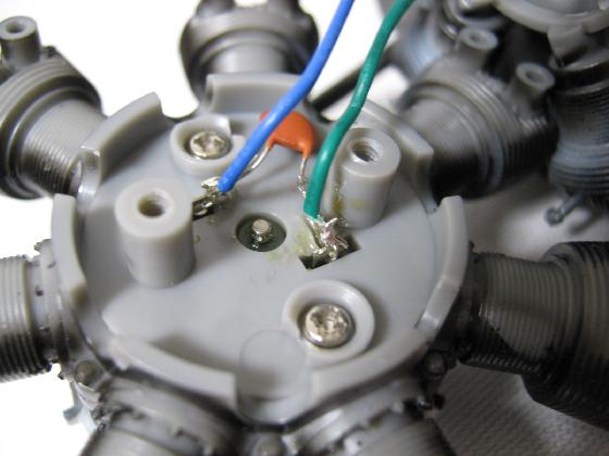 デアゴスティーニ零戦エンジンの修理(モーターブラシ端子半田浮き)診察2