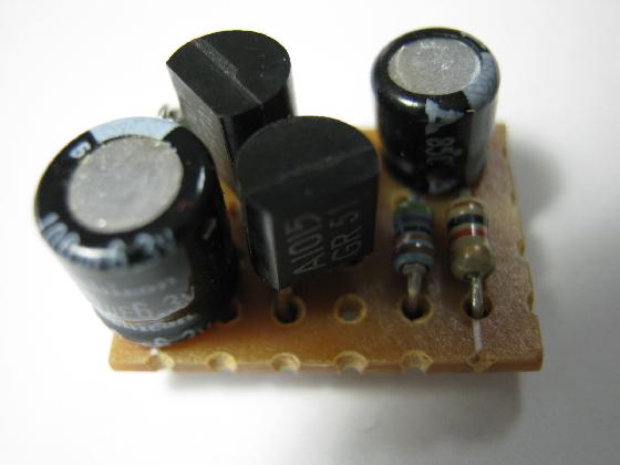 プッシュ式電話機の修理(カーボンマイク換装)治療2