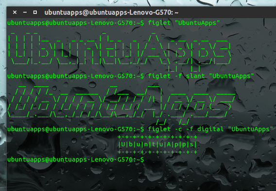FIGlet Ubuntu コマンド アスキーアート