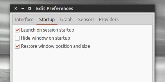 Psensor Ubuntu ハードウェアの温度 自動起動