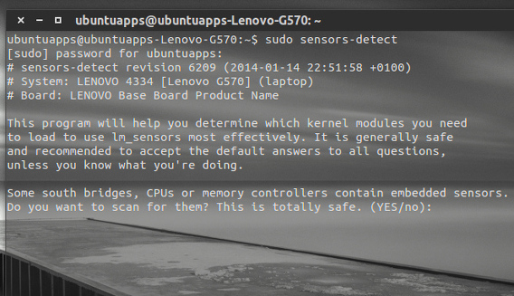 Psensor Ubuntu ハードウェアの温度 lm-sensors センサーの検出