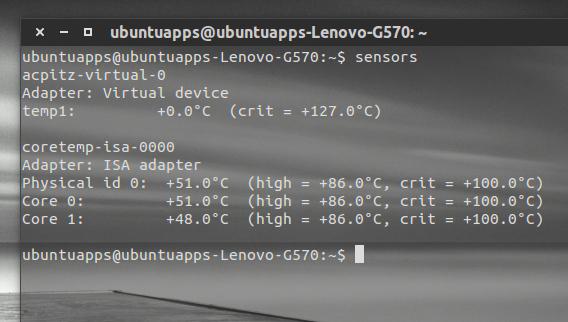 Psensor Ubuntu ハードウェアの温度 lm-sensors センサーの動作確認