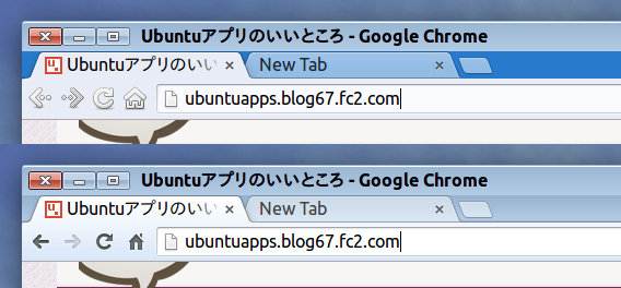 Ubuntu Windows7 テーマ Google Chrome