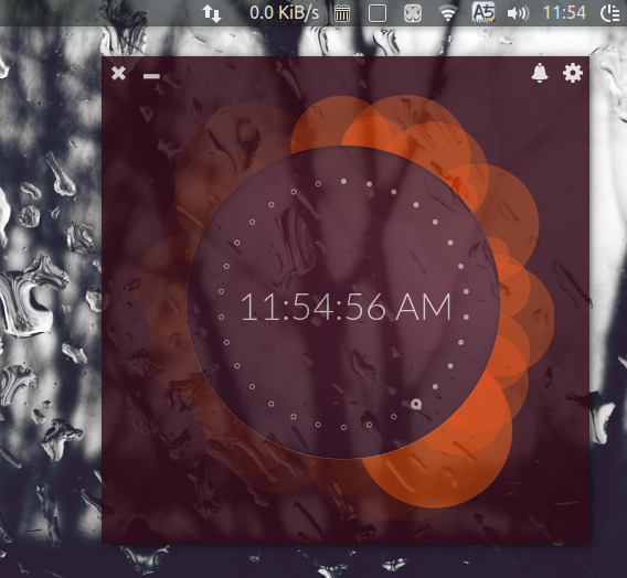Up Clock Ubuntu デスクトップ