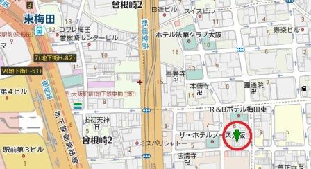 曽根崎1丁目一棟貸し地図