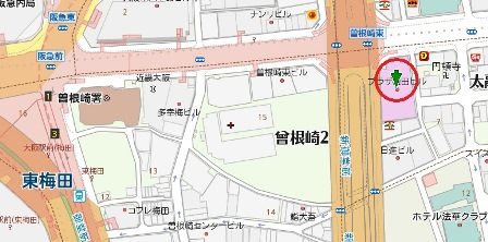 プラザ梅田ビル地図