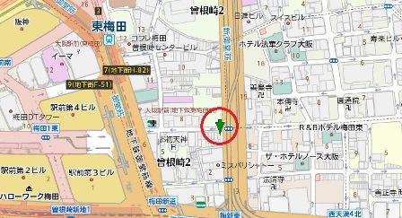 ルフージュ梅田ビル地図